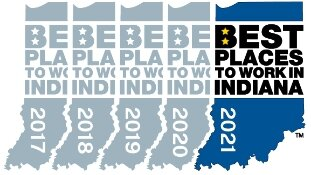 indiana best places to work, 2017 through 2021